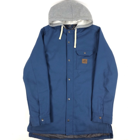 Vans Other - VANS Mountain  Jacket Coat Blue Button-Down Hooded